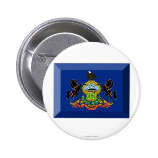 Gema de la bandera de Pennsylvania Pin Redondo 5 Cm
