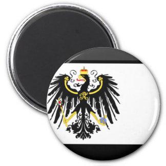 Gema de la bandera de Preussen Imán Redondo 5 Cm
