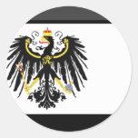 Gema de la bandera de Preussen Pegatina Redonda