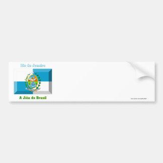 Gema de la bandera de Río de Janeiro Pegatina Para Auto
