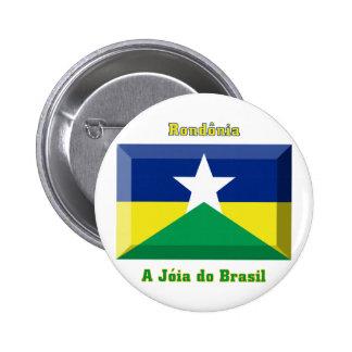 Gema de la bandera de Rondônia Pin
