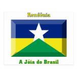 Gema de la bandera de Rondônia Tarjetas Postales