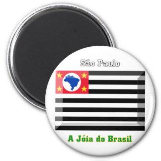 Gema de la bandera de São Pablo Imán Redondo 5 Cm