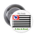 Gema de la bandera de São Pablo Pin Redondo 5 Cm