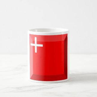 Gema de la bandera de Schwyz Taza Básica Blanca