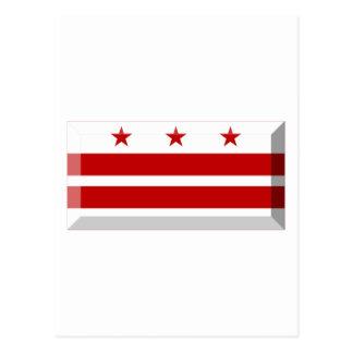 Gema de la bandera del distrito de Columbia Tarjetas Postales