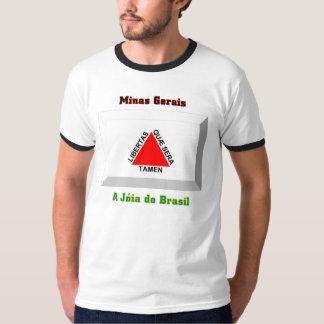 Gema de la bandera del Minas Gerais Camisas