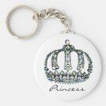 Gema de una princesa Keychain de la tiara Llavero Redondo Tipo Pin