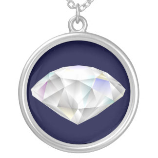 Gema del corte del diamante colgante redondo