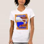 Gema del ~ de Jamaica del viaje del vintage del ~ Camiseta