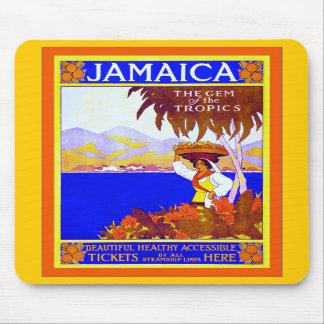 Gema del de Jamaica del viaje del vintage del Alfombrilla De Ratón