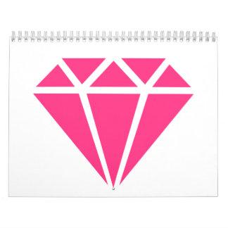 Gema del diamante calendario de pared