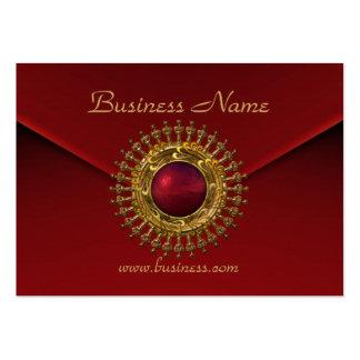 Gema del rojo del terciopelo del rojo rico del neg plantillas de tarjetas de visita
