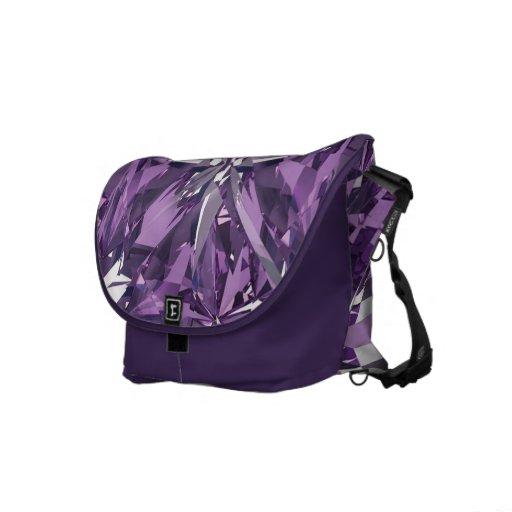 Gema púrpura, violeta bolsa de mensajería