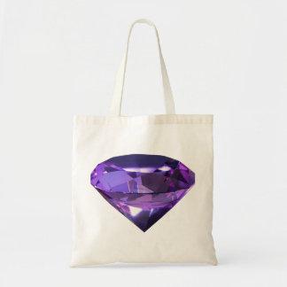 Gema púrpura, violeta bolsa de mano