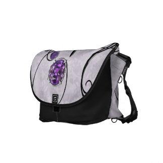 Gema púrpura, violeta bolsas messenger