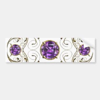 Gema púrpura violeta etiqueta de parachoque