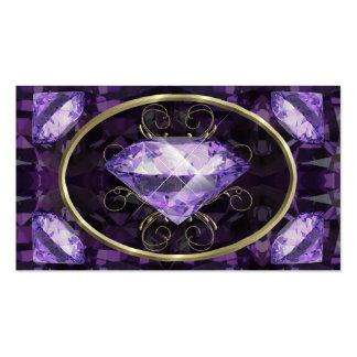 Gema púrpura, violeta tarjetas de visita