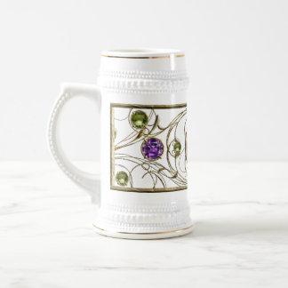 Gema púrpura, violeta jarra de cerveza