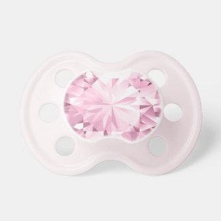 Gema rosada del Glitz del diamante - niña Binky Chupete