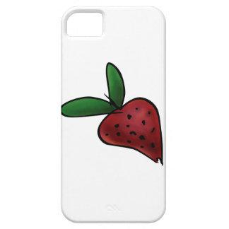 Gemalte Erdbeerillustration de Niedliche iPhone 5 Carcasas