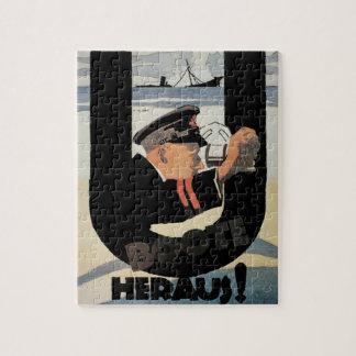 gemany U Boote Heraus_Propaganda Poster Jigsaw Puzzle