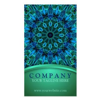 Gemas azules y verdes tarjetas de visita