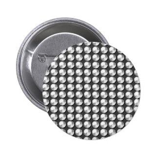 Gemas blancas del negro n BNW de la chispa NVN1 Pin Redondo De 2 Pulgadas