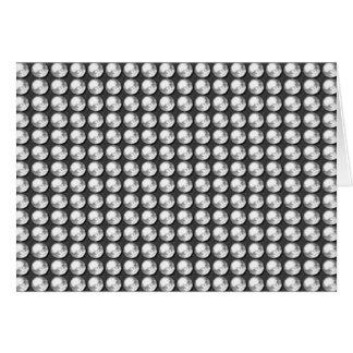 Gemas blancas del negro n BNW de la chispa NVN1 Tarjeta De Felicitación