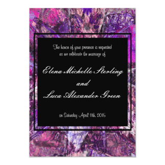 """Gemas brillantes púrpuras Amethyst artísticas Invitación 5"""" X 7"""""""