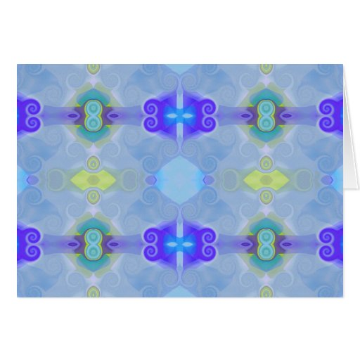 Gemas de cristal azules, tarjeta de nota