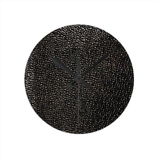 Gemas negras pintadas reloj de pared
