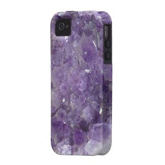 Gemas preciosas Amethyst púrpuras Vibe iPhone 4 Fundas