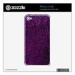 Gemas púrpuras pintadas skins para iPhone 4