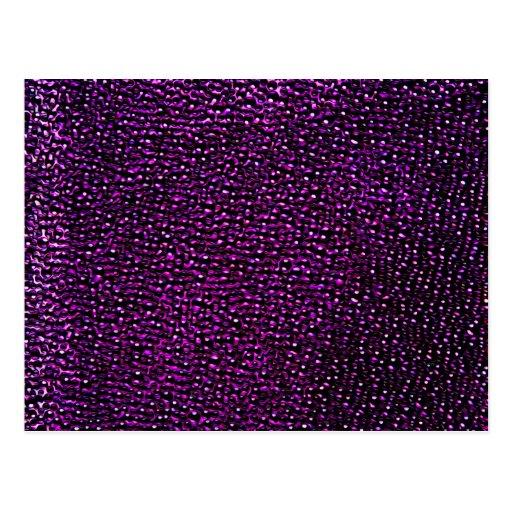 Gemas púrpuras pintadas tarjeta postal