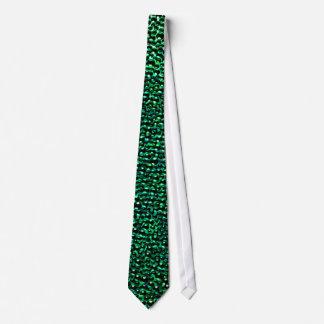 Gemas verdes pintadas corbatas personalizadas