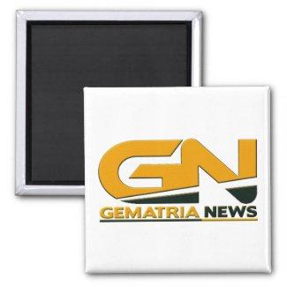 Gematria News 2 Inch Logo Square Magnet
