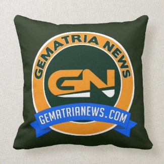 """Gematria News Cotton Throw Pillow 20"""" x 20"""""""
