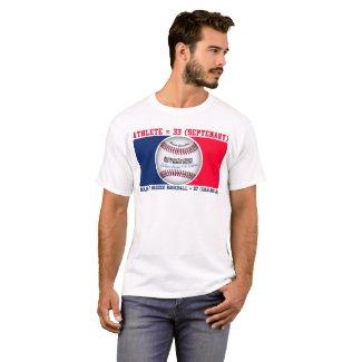 Gematria News Majorly Rigged   Baseball Logo T-Shirt