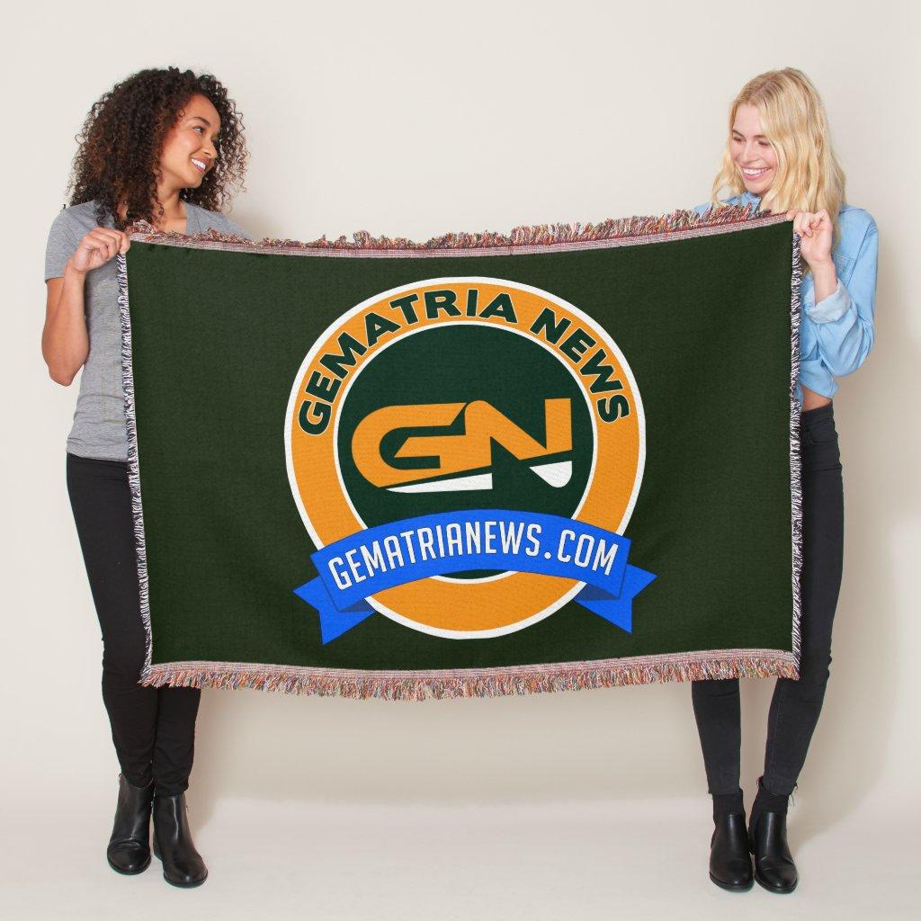 Gematria News Throw Blanket