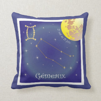 Gémeaux 21 May outer 21 juin cushions