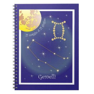 Gemelli 21 maggio Al 21 giugno note booklet Spiral Note Books
