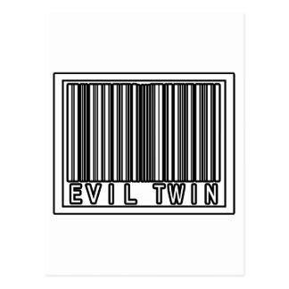 Gemelo del mal del código de barras tarjetas postales