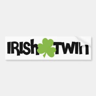 Gemelo irlandés pegatina para auto