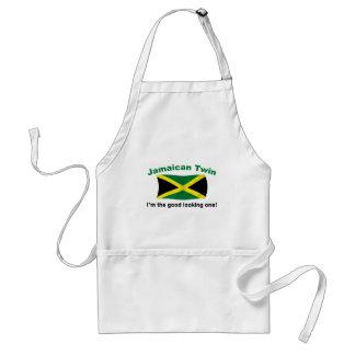 Gemelo jamaicano apuesto delantal