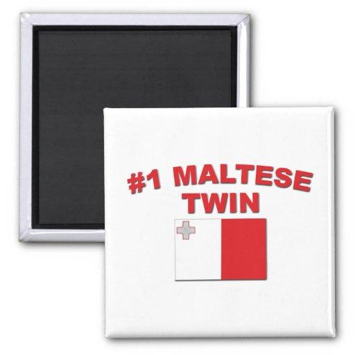 Gemelo maltés #1 iman para frigorífico