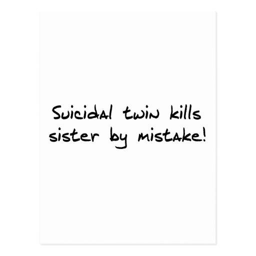 Gemelo suicida tarjeta postal