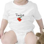 Gemelos (cerezas) trajes de bebé