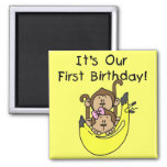Gemelos - cumpleaños del mono del muchacho y del c iman