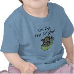 Gemelos - cumpleaños del mono del muchacho y del c camisetas